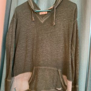 Hollister light green sweater/sweatshirt